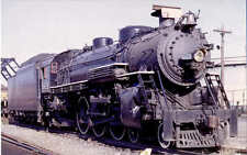 Grand Trunk Western 4-6-2 steam locomotive railroad train postcard