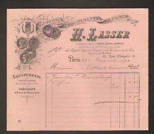 """PARIS (XIII°) USINE de FOURNITURES MILITAIRES ,Etuis à Révolver """"H. LASSER"""" 1904"""