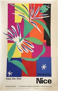 Original Vintage French Art & Exhibition Poster by Henri Matisse,1960's Nice