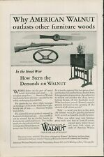 1926 American Walnut Outlasts Other furniture Wood Gun Stock Print Ad G6