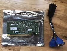 Dual VGA Nvidia Quadro NVS 300 512MB DDR3 Video Card-PCI-Express Low Profile