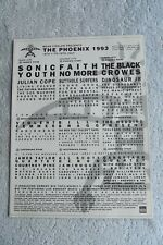 PHOENIX FESTIVAL 1993 - ADVERT - SONIC YOUTH, FAITH NO MORE, BLACK CROWES.