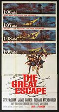 THE GREAT ESCAPE STEVE McQUEEN JOHN STURGES 1963 3-SHEET BILLBOARD
