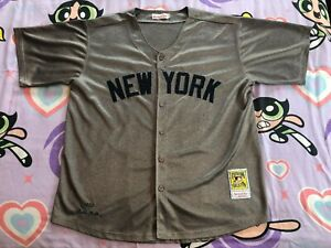 Babe Ruth Mitchell & Ness 1932 New York Yankees Jersey 54 3XL Mens Throwback