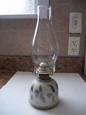 Vintage Stoneware Pottery Eagle Burner Oil Lamp Signed
