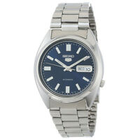 Seiko 5 SNXS77 Automatic Day-Date Blue Dial Stainless Steel Men's Watch SNXS77K1