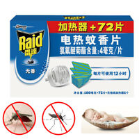 72 Pcs 12 hrs Refill Mosquito Mats + 1 Electric  Repellent Heater Repeller kille