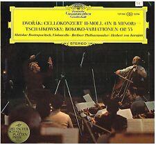 Dvorak: Cello Concerto; Tchaikovsky: Variaz. Rococo / Karajan, Rostropovich - LP