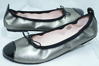 Stuart Weitzman Kids Shoes Girls Silver Flats Ballerina Size 3 UK 2.5 NIB