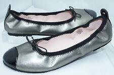 New Stuart Weitzman Kids Shoes Girls Silver Flats Ballerina Size 3 UK 2.5