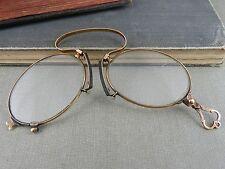 Antique 10K Gold Folding Lorgnette Opera Glasses