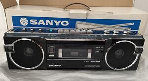 Vintage 1984 Sanyo M7770K BOOMBOX Mini Slim Stereo Radio Cassette New In Box