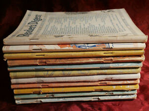 Readers Digest Reading Copy Lot 1942 issues