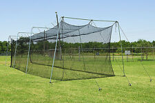 Baseball Batting Cage Net 55 X 14 X 12 Twisted #24 Poly HDPE Door Opening #42 PL