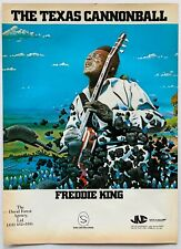 FREDDIE KING vintage 1972 POSTER ADVERT THE TEXAS CANNONBALL Shelter Records
