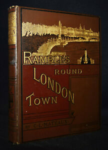 Mateaux, Rambles round London town - 1884  ENGLAND GROSSBRITANIEN LONDON