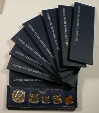 9 1966 SMS Special Mint Sets with nice coins and boxes.