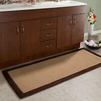 Memory Foam XL 60 x 24 Nonslip Accent Bathroom Kitchen Rug 2 x 5 Feet Black