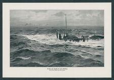 Claus Bergen Kaiserliche Marine U-Boot Feindfahrt Nordsee Angriff Geleitzug 1917