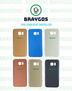 Rear Back Battery Cover Glass For Samsung Galaxy S7 Edge G935F With Adhesive
