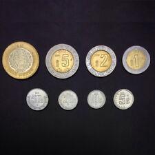 [M-1] Mexico Set lot 8 Coins, 5 10 20 50 Centavos 1 2 5 10 Pesos, AUNC-UNC