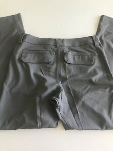 Lululemon Athletica Mens 34/33 Gray Performance Dress/Golf Pants