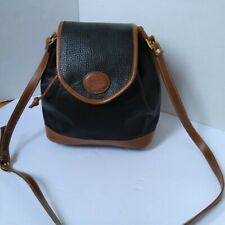 ALBA bucket crossbody black and brown purse bag