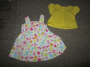 Authentic AMERICAN GIRL BITTY TWIN DOLL FRESH PICKED SUNDRESS OUTFIT CLOTHES NEW
