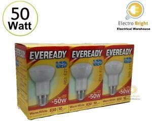 2-3 PACK EVEREADY LED SPOT BULBS 50 W EDISON SCREW E 27 R 63 WARM WHITE👀