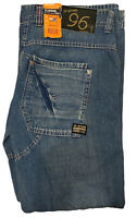 Men's Gstar Elwood Jeans W38 L34 Light Blue Brand New Tags 3301 Button Fly