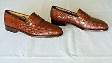 RARE! $1,400 Bragano Cole Haan Genuine Crocodile Alligator Loafers Boots Shoe 11