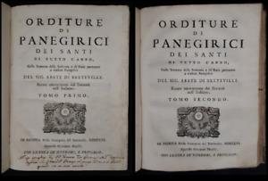 Abate di Breteville: Orditure di Panegirici di Santi .. 1756 (2 vol in 1)