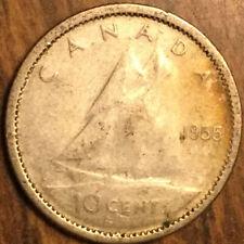 1955 CANADA SILVER 10 CENTS