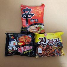 3Pack Korean Food Instant Ramyun-Shin Ramyun, Buldak Bokkeum myun, Jin Jjanjang