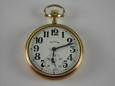 Antique 16s Illinois Bunn Special 23 Ruby jewels Rail Road pocket watch.1922