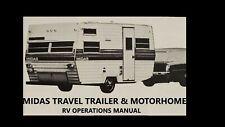 Midas Trailer Motorhome Operation Manuals - 320pg for Rv Camper Service & Repair