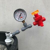Kegland Blow Tie Spunding Valve Adjustable Pressure Relief Gauge Corny Ball Lock