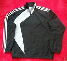 New Adidas Mens Sports Zip up -Black /grey -XL42/44