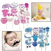 18pcs Baby Shower Diversión Accesorios para Fotomatón Niña Recién Nacido Fiesta