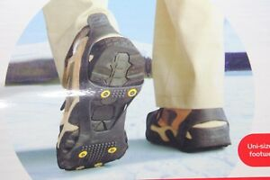 ICEGRIPS Snow Traction Slip On Snow and Ice Cleat Traction - BLACK - Large 8-12