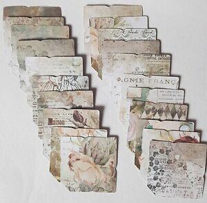 20 Mini/Tiny Envelopes 'Vintage Diaries' Cardmaking Scrapbook Crafts BirthdayDIY