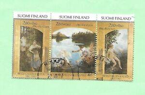Finland 1997 Commemorative Set Strip 3 Stamps FU SG1484-86