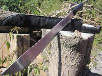2 x XL Stahl MACHETE Messer leichtes BUSCHMESSER AXT SÄGE Beil Outdoor Angeln