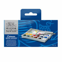 Winsor & Newton Cotman Sketchers Pocket Box - 12 Näpfchen Aquarellfarbe + Pinsel
