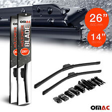"OMAC Premium Wiper Blades 14"" & 26'' Combo Pack for Fiat 500X 2016-2021"
