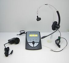 Plantronics SP11 Mono Headset + S12 Battery Operated Amplifier - TESTED WORKING