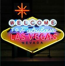 "New Welcome To Las Vegas Artwork Vivid Beer Neon Light Sign 24""x20"""