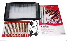 KnitPro Symfonie Wood Deluxe Interchangeable Circular Knitting Needle Set