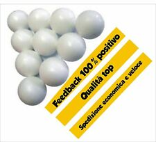 Palline calcio balilla bianche 10 pz. Materiale resistente. Ball table football.