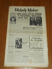 MELODY MAKER 1950 #882 JUL 1 JAZZ SWING EVE BOSWELL RABIN DAVIS TAYLOR NATHAN